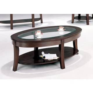 Coaster Company Oval Cappuccino Coffee Table