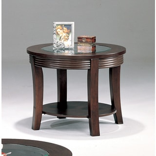 Cappuccino Round End Table