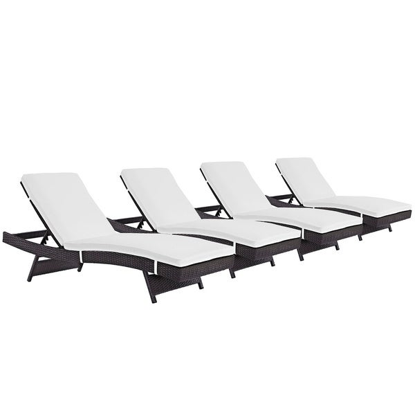 Havenside Home Bocabec Chaise Outdoor Patio (Set of 4)