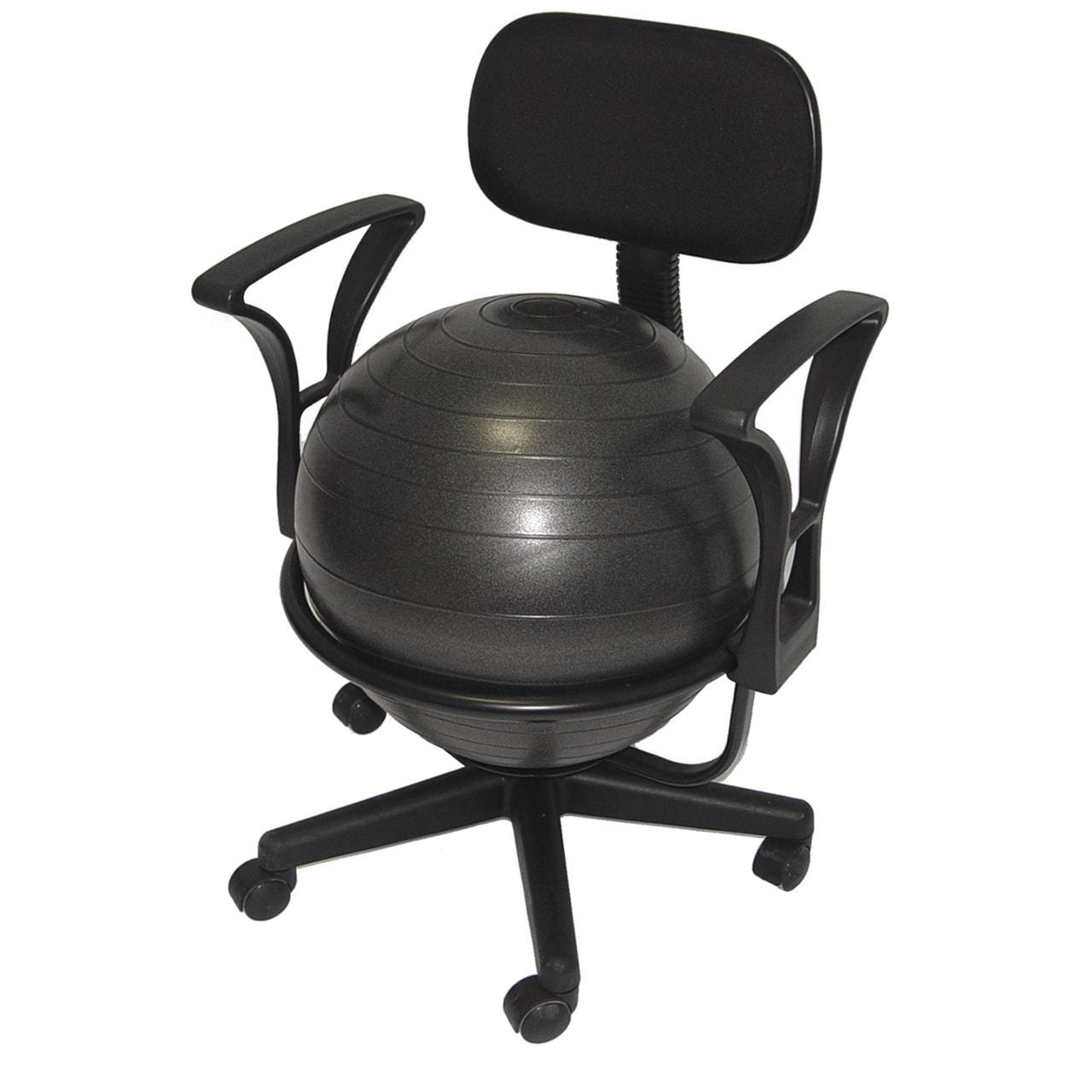 Aeromat Ball Chair Deluxe (Black Steel Construction)