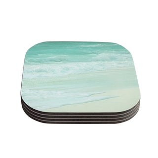Monika Strigel 'Paradise Beach Mint' Teal Green Coasters (Set of 4)