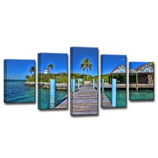 Ready2HangArt 'Tropical Pier' by Christopher Doherty Canvas Art