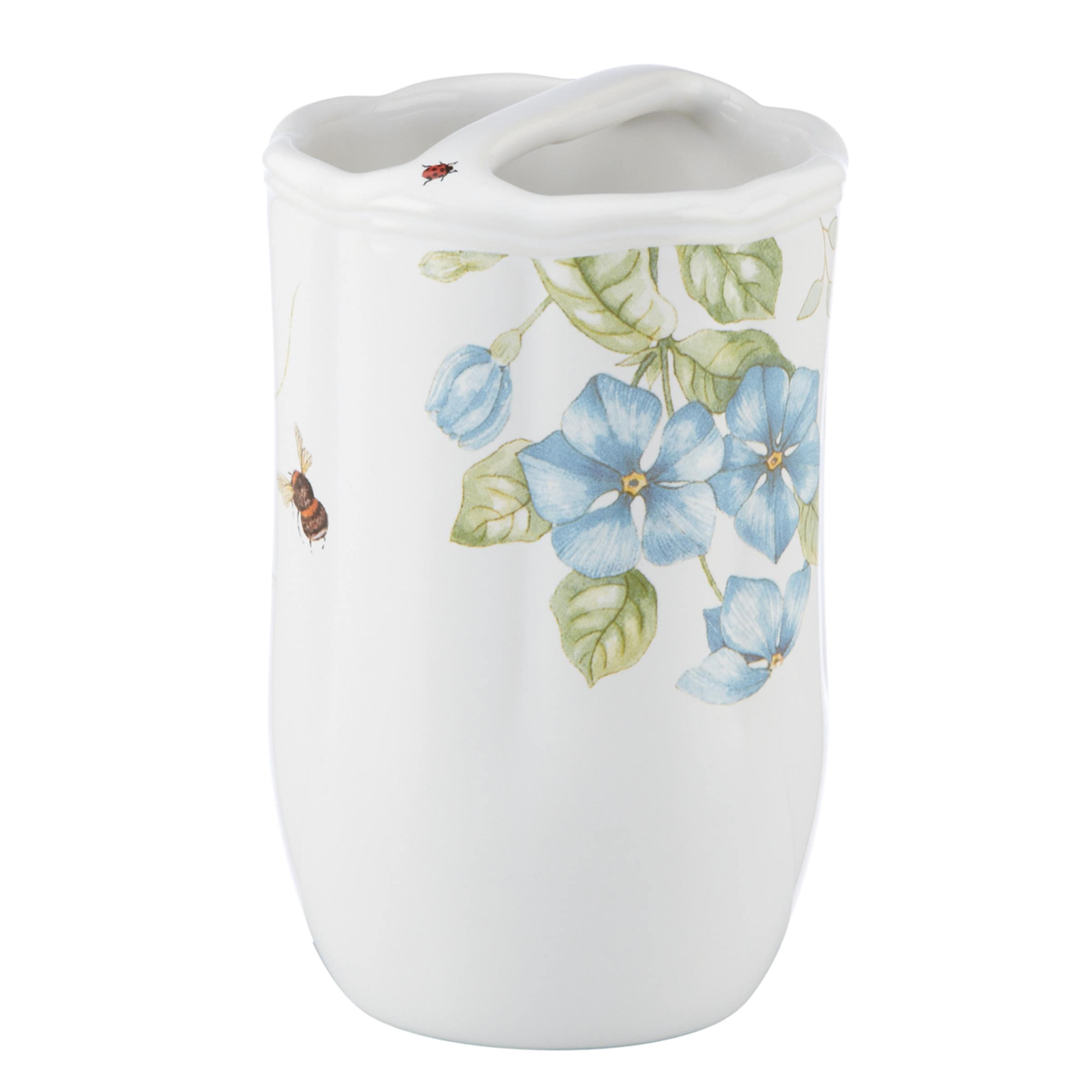 Lenox Butterfly Meadow Blue Toothbrush Holder (Butterfly ...