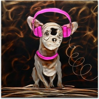 'Music to My Ears in Pink' Handmade Metal Wall Art Sculpture