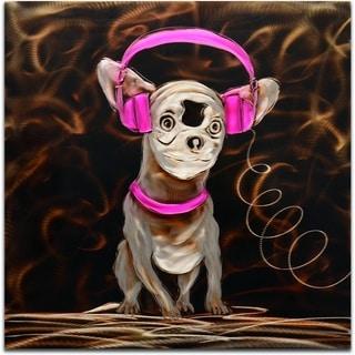 'Music to My Ears in Pink' Handmade Metal Wall Art Sculpture