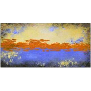 """The Orange Sky"" Original Oil Paint Canvas Art"