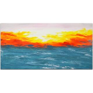 """Shimmering Sunrise"" Original Oil Paint Canvas Art"