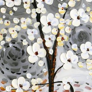 """Blossom Tree with Swirls"" Original Oil Paint Canvas Art"