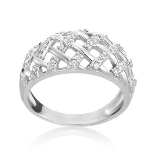 Andrew Charles 14k White Gold 1/4ct TDW Diamond Fancy Ring (H-I, SI2-I1)