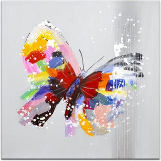 """Sight of a Beautiful Butterfly"" Original Oil Paint Canvas Art"