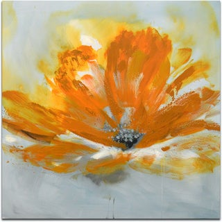 """Orange Blossom Flower"" Original Oil Paint Canvas Art"