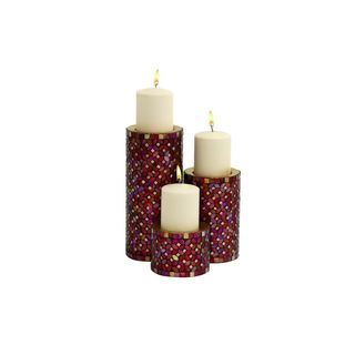 Round Metal Candle Holders (Set of 3)