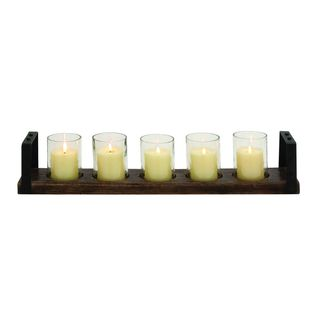 Carbon Loft Mackintosh Wood and Glass Candle Holder