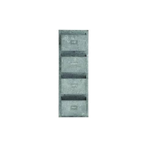 The Gray Barn Jartop Galvanized Metal Wall-mounted Pocket Organizer