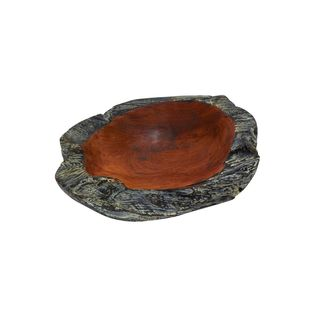 Natural Reflections 12-inch Wide x 3-inch High Teak Bowl