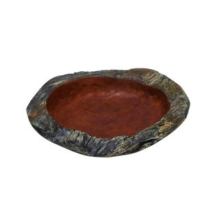 Pine Canopy Primrose Large Rustic Teak Bowl