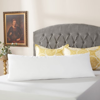 Link to Down Alternative Body Pillow with Cotton Cover Protector Similar Items in Pillows