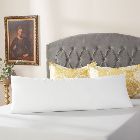 Down Alternative Body Pillow with Cotton Cover Protector