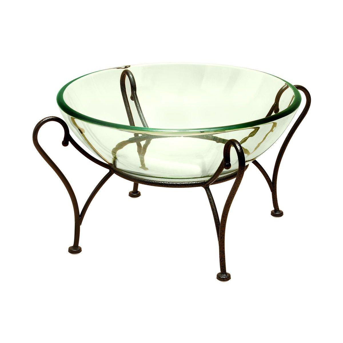 Glass Bowl on Metal Stand