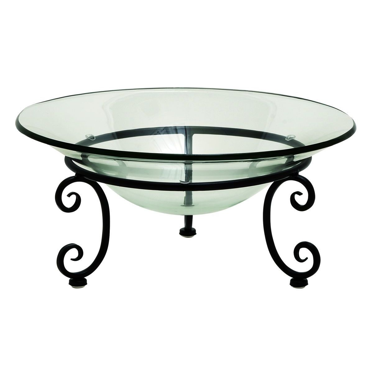 Glass Metal 17-inch-wide 8-inch-high Bowl