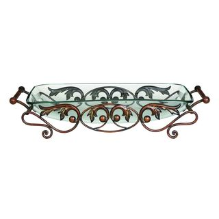 Iron/Glass 27-inch x 5-inch Serving Bowl