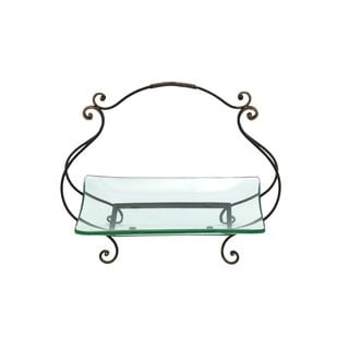 Iron and Glass Cartouche Plate Server - Thumbnail 0