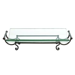 Iron and Glass Long Plate Server