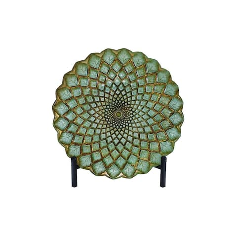 The Curated Nomad Lotta Black Green and Gold Glass Bowl