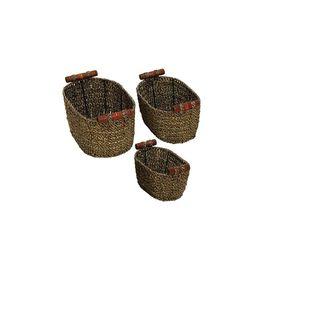 Oval Woven Sea Grass Baskets