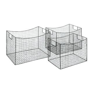 Metal Wire Baskets (Set of 3)