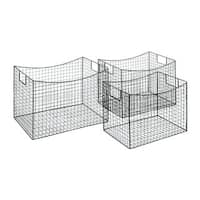Oliver & James Buri Wire Storage Baskets (Set of 3)