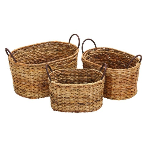 The Gray Barn Jartop Globe Trotter Oval Wicker Baskets (Set of 3)