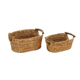 Oval Seagrass Baskets (Set of Two)