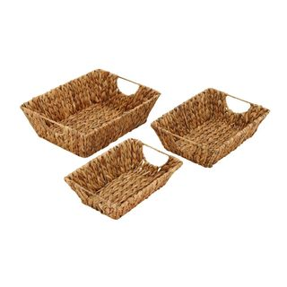 Coastal Living 15-inch/13-inch/12-inch Seagrass Baskets (Set of 3)
