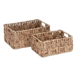 Rectangular Wicker Baskets (Set of 2)