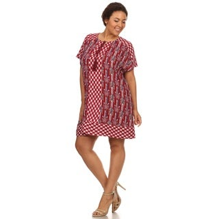 Hadari Woman Plus size Geometric print summer dress