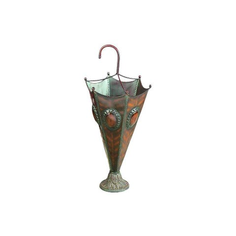 Copper Grove Iris Gold-finish Iron 28-inch Umbrella Stand
