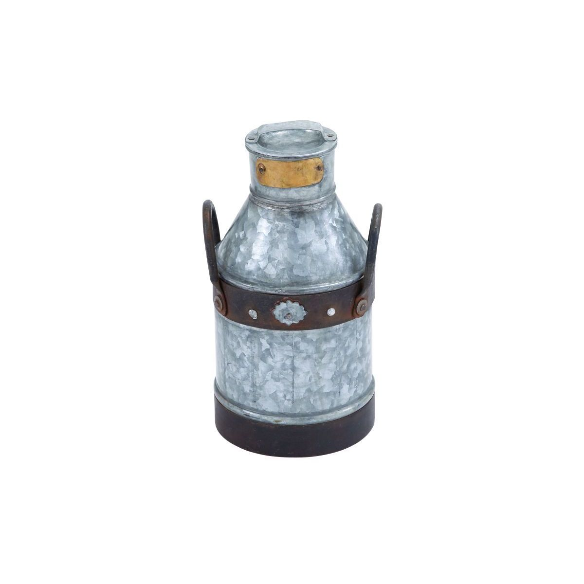 Galvanized Metal 13-inch Milk Can
