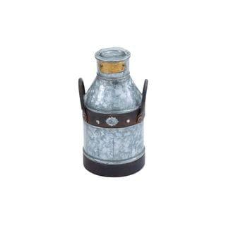 Galvanized Metal 13-inch Milk Can - Thumbnail 0