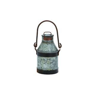 Galvanized Metal Iron 13-inch Milk Can
