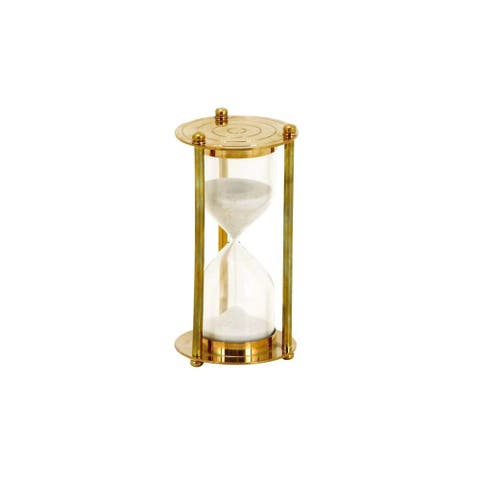 Brass/Glass 3 Inches Wide x 6 Inches High Sand Timer
