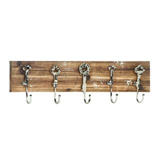 Wood/Metal 7-inch High x 24-inch Wide Wall Hook