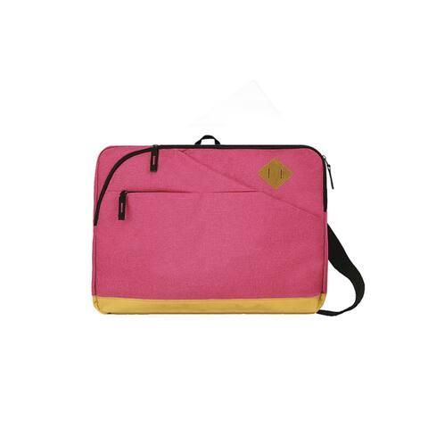 Goodhope Epic Blue/Black/Pink Fabric Laptop Courier Messenger Bag