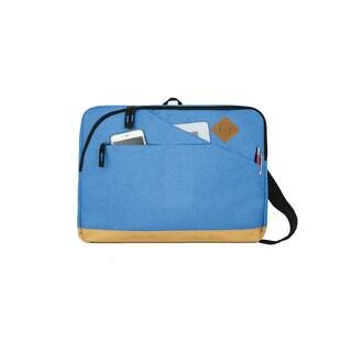 Goodhope Epic Blue/Black/Pink Fabric Laptop Courier Messenger Bag (Option: Blue)