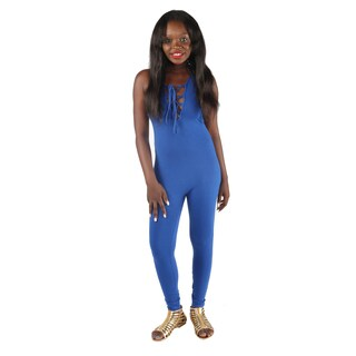 Hadari Womens Fitted Royal Blue jumpsuit