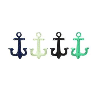 Assorted Metal 9-inch x 5-inch Metal Wall Hooks (Pack of 4)