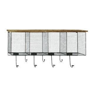 Wood/Metal 32-inch x 14-inch Wall Hook