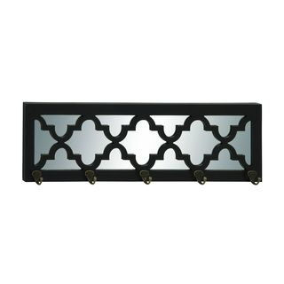 Decorative Iron and Glass 31-inch Wide x 9-inch High Coat Rack