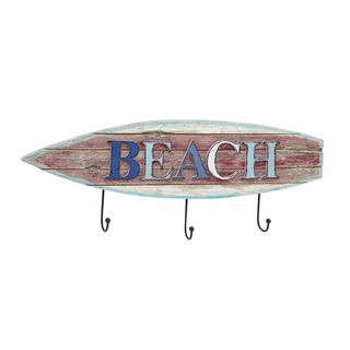 Multicolor Wood/Iron 33-inch x 13-inch Surfboard Hook
