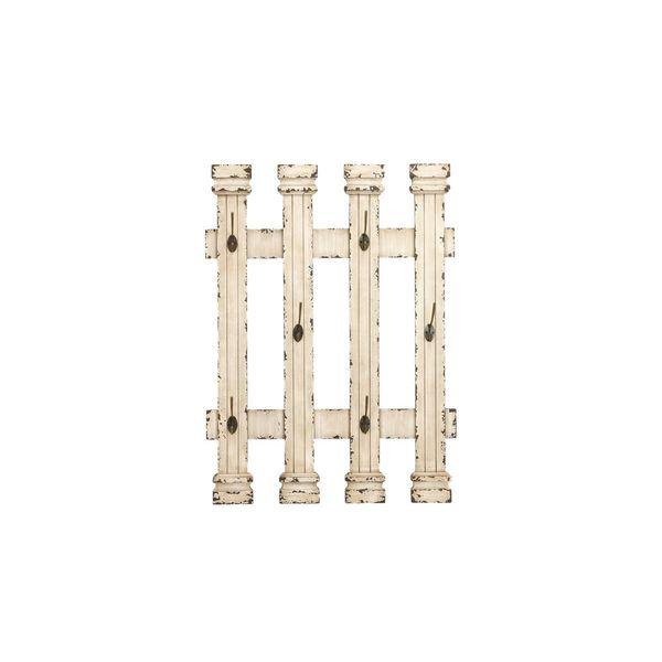 Shop Maison Rouge Lamartine Distressed White Picket Fence Coat Rack Stunning Picket Fence Coat Rack